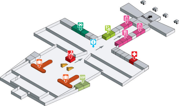 План аэропорта Краби