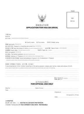 Образец заполнения анкеты для получения визы по прилете